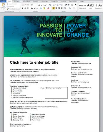 Microsoft Word Formular für Jobausschreibungen - Bayer AG